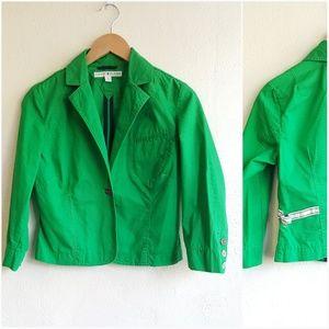 Tommy Hilfiger green crop blazer jacket